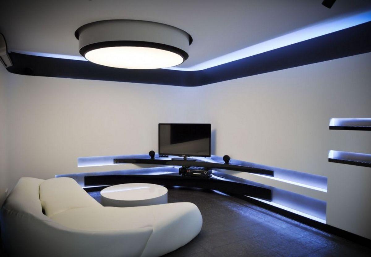 Черно-белый интерьер гостиной, спальни, кухни, ванные - фото.